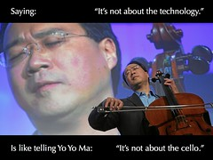 """It's not about the technology"" (darrendraper) Tags: interestingness technology cello passioninterestingnesstechnology"