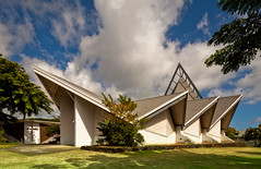 Kailua Baptist Church (Chimay Bleue) Tags: church architecture modern allison hawaii pacific oahu cook modernism architect honolulu tong eglise goo kailua wimberly midcentury postwar whisenand
