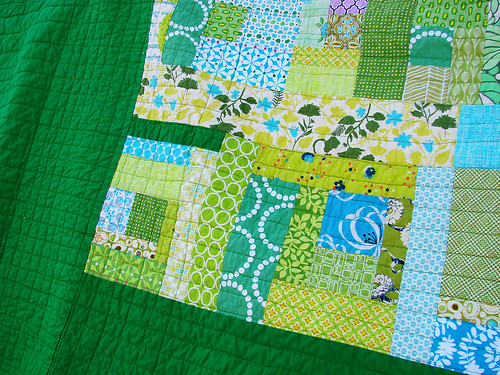 detail of the back & quilting