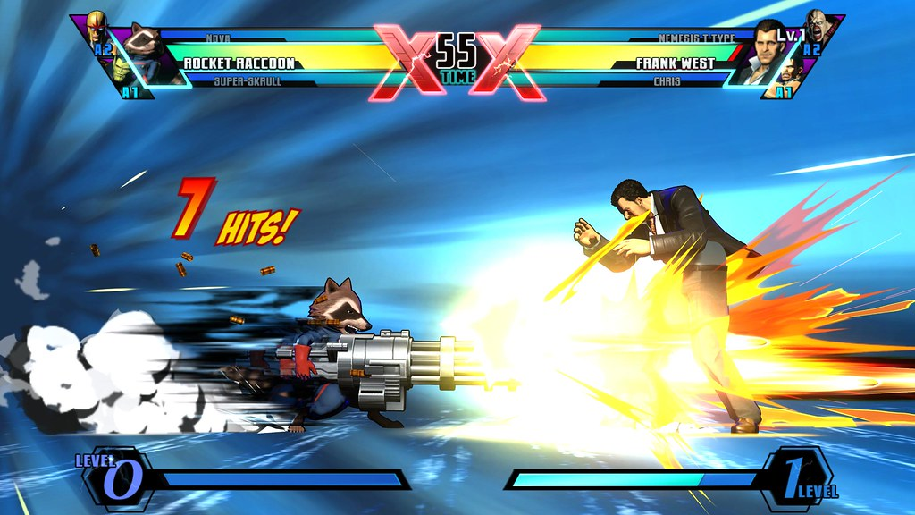 Rocket Raccoon - Gamers Day Screen - ULTIMATE MARVEL VS. CAPCOM 3