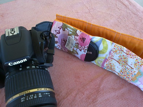 Camera Strap Cover with Lens Cap Pocket