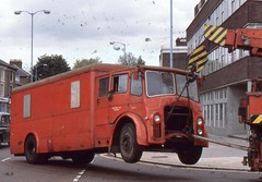 London Transport . 1273LD 571EYU . Chiswick Works , London . 06th-June-1979 . (AndrewHA's) Tags: bus londontransport leyland pd3 manneggerton lorry breakdown londonunderground truck equipment service ancillary stock 1273ld