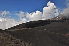 After sunrise in Lignano: Etna (the highest volcano in Europe). Ecco uno scatto sull' Etna a 3000 metri (MisterGiove) Tags: blue italy black color nature colors clouds nikon nuvole blu sicily colori nero sicilia nikond90