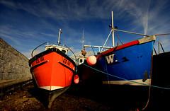 Double Hull (McGheeJoe) Tags: ireland island boat fishing harbour bow mayo hull achill trawler
