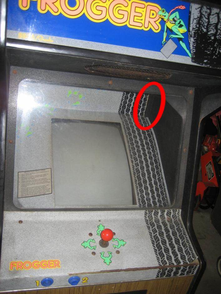 i was wondering how the frogger bezel is attached to the cabinet. only staples in the back (as shown on the following picture) or somewhere else as well? & Frogger Bezel Attachment - KLOV/VAPS Coin-op Videogame Pinball ...