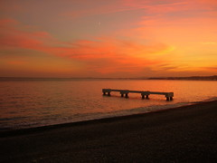 Sunset Point. (Miaooooo!) Tags: sunset sky orange mer france seaside nice nikon mediterranean ciel shore breathtaking mediterraneansea lapromenadedesanglais platinumheartaward breathtakinggoldaward fabbow breathtakinghalloffame blinkagain artistoftheyearlevel3 artistoftheyearlevel2 artistoftheyearlevel4 artistoftheyearlevel5 artistoftheyearlevel6