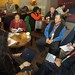 Navajo Nation Vice President Rex Lee Jim and panel members on the International Workshop: Moving United Nations Declaration on the Rights of Indigenous Peoples (UNDRIP) to Action meet before the afternoon breakout session at the 68th NCAI Convention in Portland, Oregon. Photo by Jared King / NNWO.  This Navajo Nation Washington Office photograph is being made available only for publication by news organizations and/or for personal use printing by the subject(s) of the photograph. The photograph may not be manipulated in any way and may not be used in commercial or political materials, advertisements, emails, products, promotions that in any way suggests approval or endorsement of Navajo Nation President Ben Shelly or Vice President Rex Lee Jim.