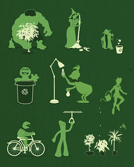 Going Green (davidfromdallas) Tags: green art design starwars oscar funny yoda lol tinkerbell peterpan grinch haha hulk cartoons kermit gumby grouch wickedwitch