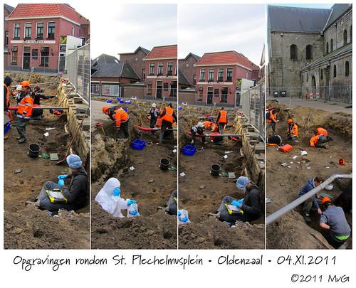 Excavations St. Plechelmusplein • Oldenzaal by Marcel van Gunst