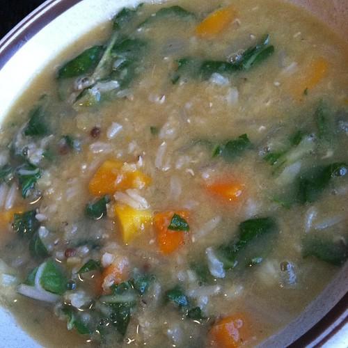 Arabian lentil rice soup