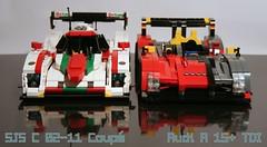 SJS C 02-11 Coupé & Audi R 15+ TDI Le Mans Prototypes