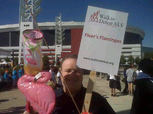 ALS Walk 2011 - Flamingo Sign