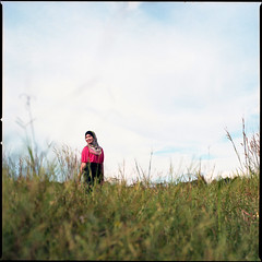 332650 (Nasey) Tags: road pink portrait people 120 6x6 film grass mediumformat alley amy hijab squareformat malaysia terengganu tudung carlzeiss 80mmf28 hasselblad503cw setiu lembahbidong nasey nasirali ikha planarcft