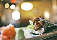 Crispy Salmon Temaki (- POD -) Tags: kyoto edmonton salmon crispy temaki 109st