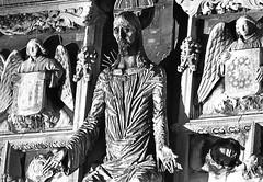 Canterbury cathedral (that Geoff...) Tags: uk white black statue stone canon mono kent gate christ jesus entrance kitlens canterbury floodlit 500d