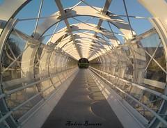 Arcos y reflejos (andresbasurto) Tags: color blanco azul puente arquitectura arte barras bizkaia reflejos arcos túnel artístico diagonales iurreta andresbasurto