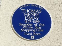 Photo of Thomas Henry Ismay blue plaque