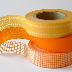 orange washi tape