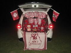 Alabama Trunk-or-Treat (mrbama97) Tags: red white halloween night truck canon dark lights football october rolltide alabama flags trunk dodge suv durango crimsontide 2011 a570is