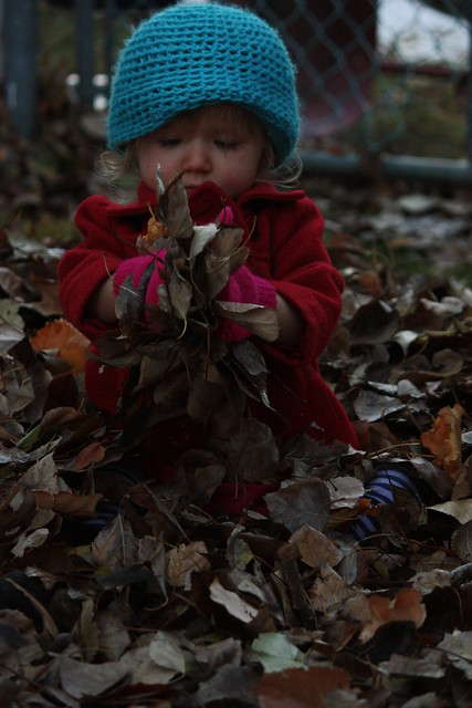 Cordelia in leaves 10