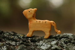 Orange Tiger Striped Cat (kris10dale) Tags: wood cat toy wooden handmade waldorf etsy naturetable