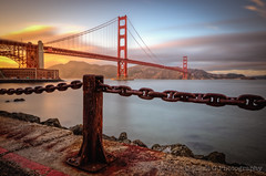 Rusty Gate (Silent G Photography) Tags: sanfrancisco california ca longexposure sunset blur photography bay rust fort grunge ghost chain goldengatebridge adobe goldengate bayarea barrier fortpoint nik sanfranciscobay f8 presidio hdr highdynamicrange goldenhour onone reallyrightstuff rrs photomatix cloudmovement hdrphotography colorefexpro niksoftware 10stopndfilter ononesoftware highdynamicrangephotography lightroom3 bwnd110 nikond7000 nikkor1635mmf4 markgvazdinskas silentgphotography reallyrightstuffllc perfectphotosuite6 perfecteffects