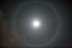 Jupiter (nearly) Full Moon with Halo