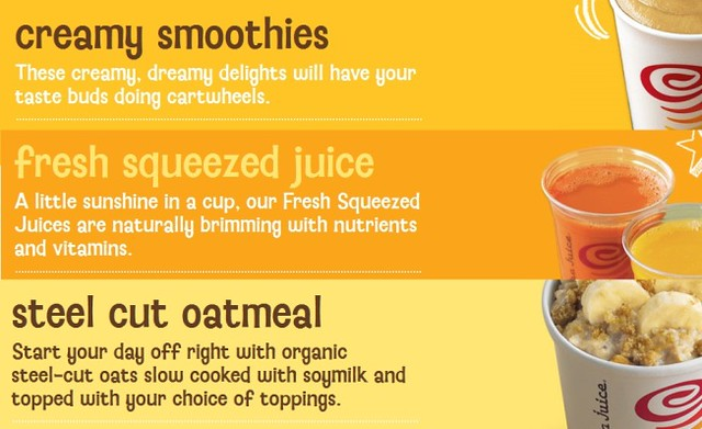 Jamba Juice Fruit Juices and More