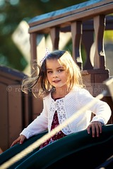 (Rebecca812) Tags: wood family trees sunlight cute girl beauty playground children fun outdoors happy kid ship child play sweet innocent daughter slide rope hazeleyes brownhair hairribbon canon5dmarkii rebecca812 heritage2011