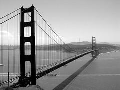 Golden Gate Bridge - Black & White; San Francisco, California (hogophotoNY) Tags: sanfrancisco california ca camera bridge blackandwhite bw west beautiful northerncalifornia cali sony goldengatebridge goldengate westcoast f717 sonyf717 sfca hogo usbridge hogophoto