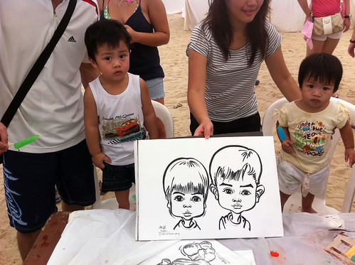 caricature live sketching for LGT Family Day - 7
