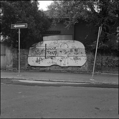 (OverdeaR [donkey's talking monkey's nodding]) Tags: urban bw food signs 120 6x6 film wall mediumformat square soup 50mm cabin junk traffic serbia stock fast delta s scan d76 professional negative bronica scanned medium format 100 trailer belgrade ilford beograd solution built sqa srbija f35 5035 zenzanon homedev dorol dmsg zenzanons tripodlove