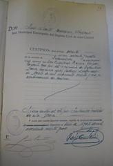 Acta de defunción del Teniente Antonio Herrera Corpas, fusilado el 10 de agosto de 1936, en La Línea