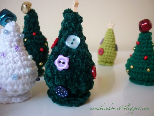 Crochet Christmas trees