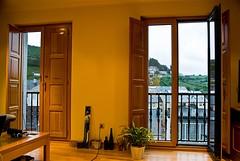 Balcón cerrado y abierto
