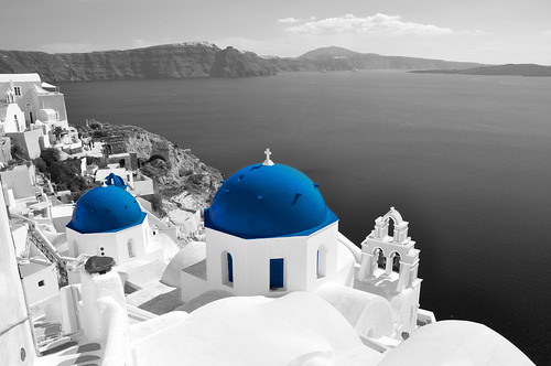 Oia black and blue