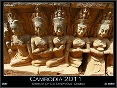 Cambodia 2011 (pharoahsax) Tags: world light shadow get colors stone canon temple asia asien cambodge cambodia kambodscha südostasien king terrace south terrasse east thom angkor figures lepra tempel leper steinfiguren koenig 2011 40d pmbvw worldgetcolors