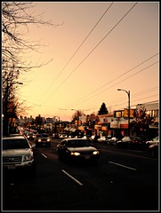 Hastings & Renfrew At Dusk (Mark Faviell Photos) Tags: street november sunset fall cars vancouver bc culture hastings