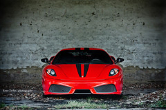 The Red Devil (Keno Zache) Tags: red canon dark photography eos wand ferrari aggressive luxury scuderia 430 sportcar keno semetry 400d zache