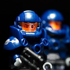 Bug Hunt (bluemoose) Tags: blue macro marine lego bokeh onblack series7 classicspace collectableminifigure