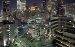 Houston Skyline and 1910 Courthouse (telwink) Tags: county justice texas 1st houston historic system criminal courthouse 1910 harris courts 14th renovation pid fpm appeals 77002