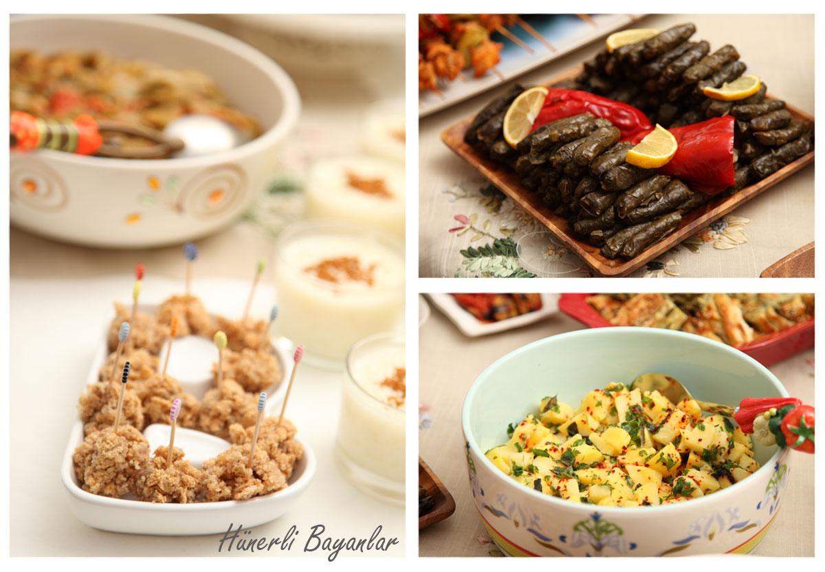 Fındıklı Mereng Topları, Patates Salatası, Zeytinyağlı Sarma