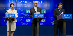 President Herman Van Rompuy gives his statemen...