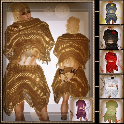 A&A Fashion Poncho Skirt Set System