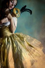 The Golden Masquerade (Daneli) Tags: woman art ball gold golden mask artistic romance romantic historical masquerade gown