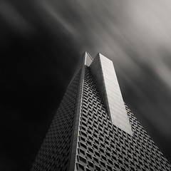 Fin (~ superboo ~ [busy busy]) Tags: sanfrancisco pyramid cloudy financialdistrict tall transamerica fin
