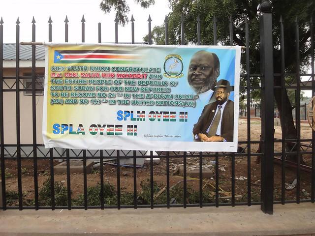 Painéis Celebrativos da Independência do Sudão do Sul em Juba