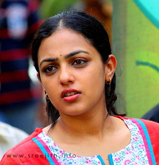 The puckish Chirakkal Bala! (sreejith.panickar) Tags: film candid actress shooting nithya nithyamenon