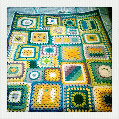 blanket in progress
