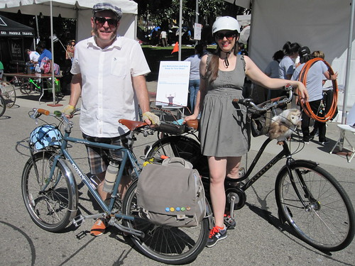 Al. and Brantlea looking hawt during CicLAvia on October 9, 2011